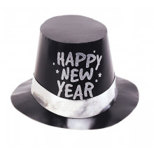Black plastic hat