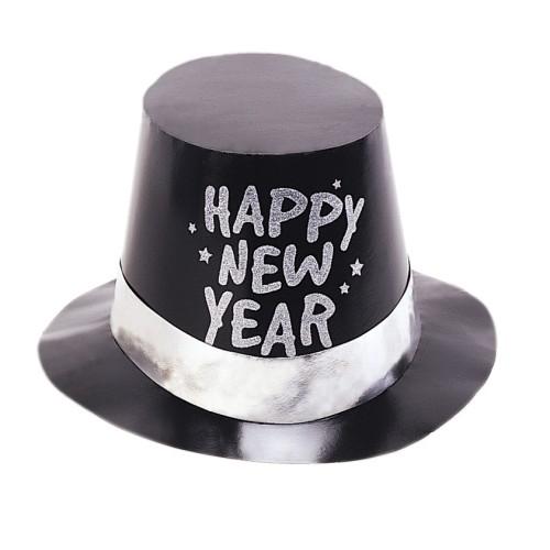 Črni plastičen klobuk
