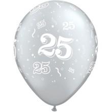 balon tiskan 25 silver