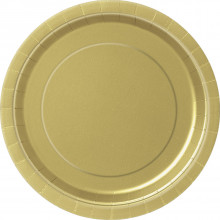 """Gold party-Plates 7"""""""