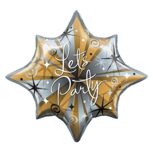 Let's party sparkles & swirls - folija balon