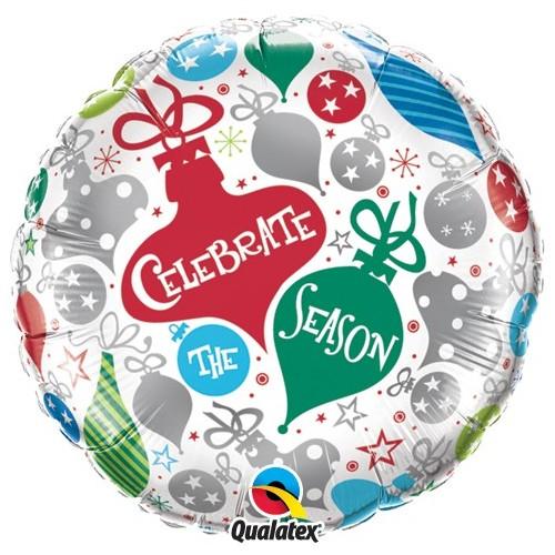 Celebrate the season ornaments - folija balon