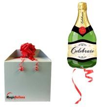 Celebrate Bubbly Wine bottle - foil balloon in a package