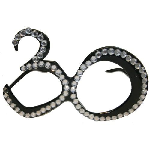 30 schwarz Brille
