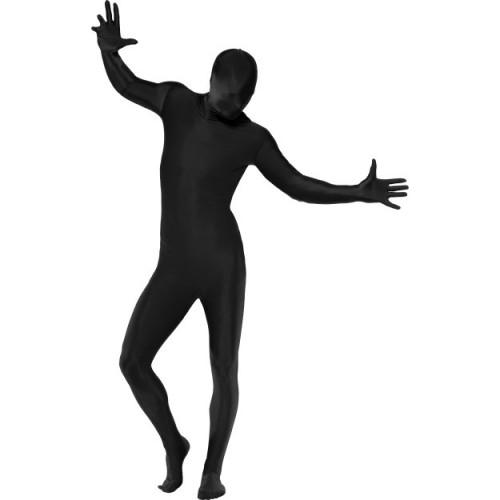 Druga koža kostum - črn