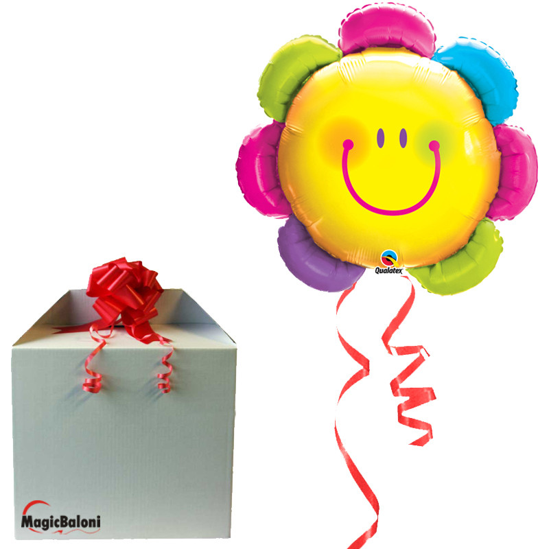 Funny Face Flower - folija balon v paketu