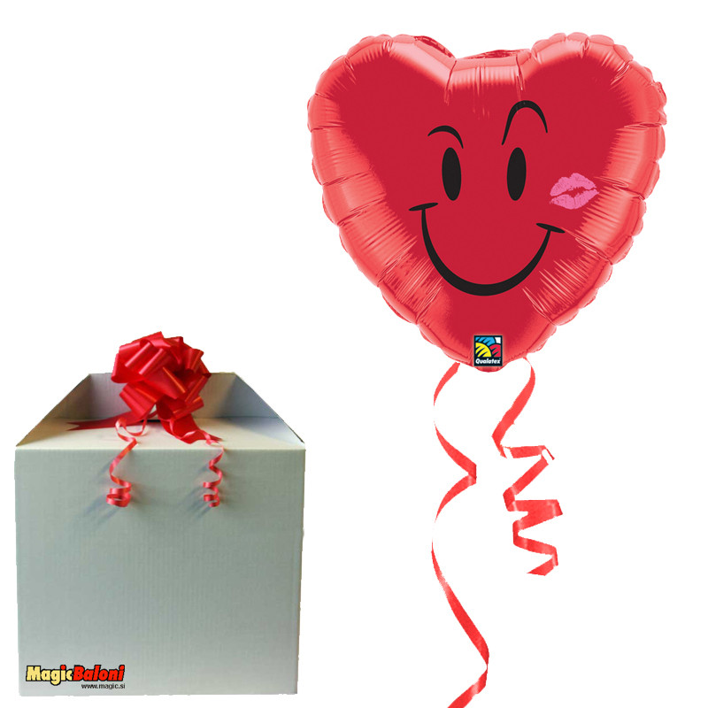 Naughty Smile & A Kiss - folija balon v paketu