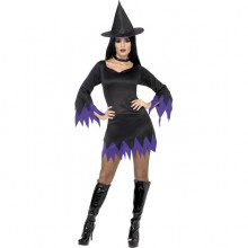 Čarovnica vijoličen kostum