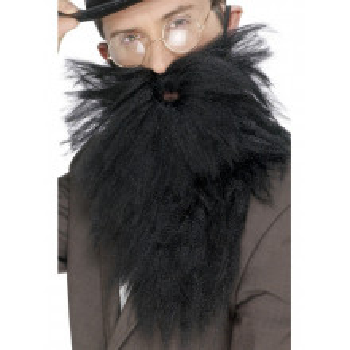 Dolga črna brada z brki