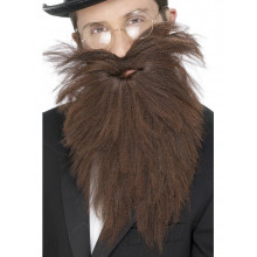 Long Beard & tash, brown