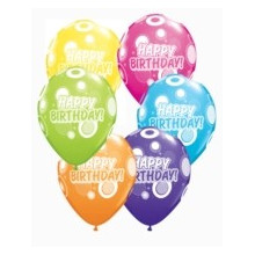 Balloon Birthday Dots & Glitz