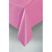Plastic tablecover-pastel pink