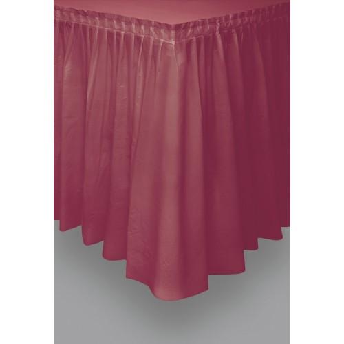 Rot  lange Plastik Tischdecke