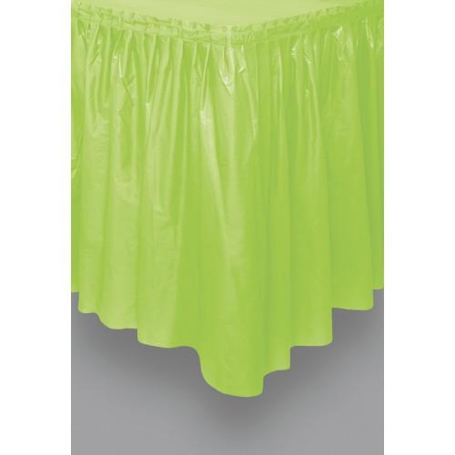 Zeleno moder svečani dolgi prt