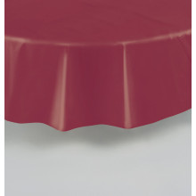 Round clear plastic tablecover