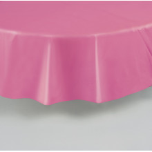 Pastelno roza okrogel prt