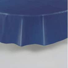Round purple plastic tablecover