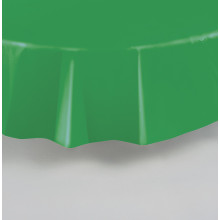 Round lime green  plastic tablecover