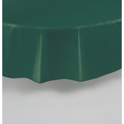 Emeraldno zelen okrogel prt