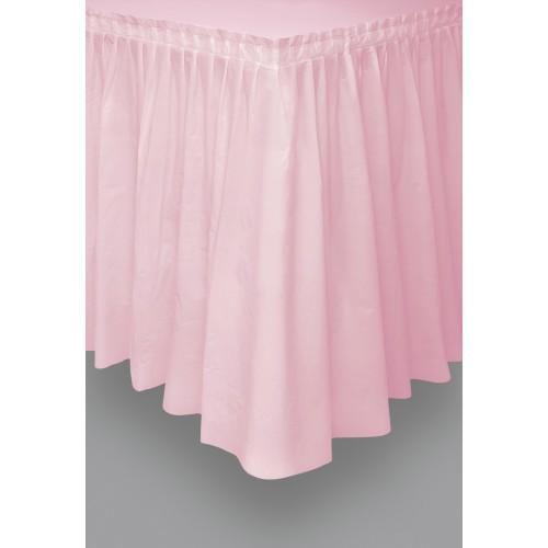 Hot pink plastic tableskirt