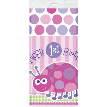 First birthday pink tablecover