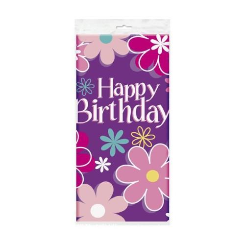 Birthday Blossom tablecover