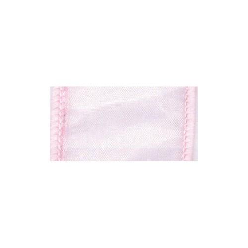 Wired chiffon-baby pink