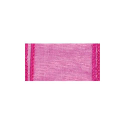 Wired chiffon- hot pink