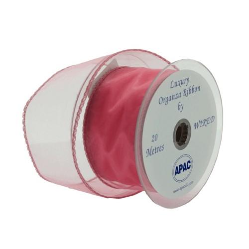 Organza trak - roza