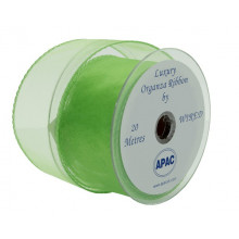 Wired chiffon-lime green