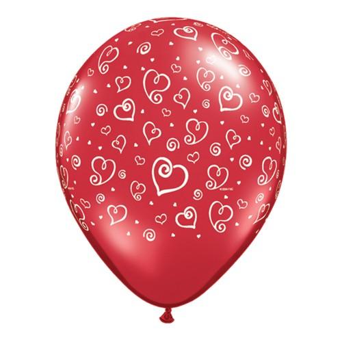 Lateks Balon -Beli srčki