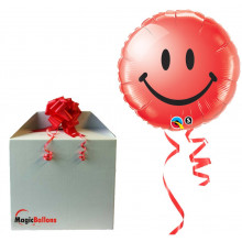 Smiley face red - folija balon v paketu