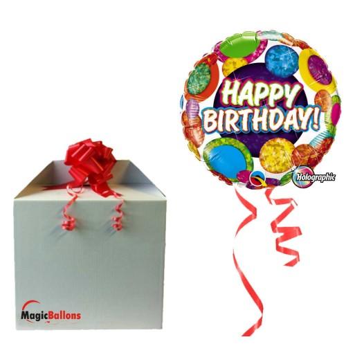 Balloon  Birthday Typography Blue