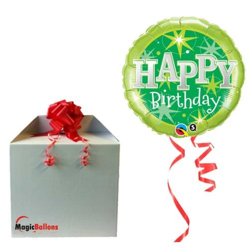 Balloon Birthday Purple  Sparkle