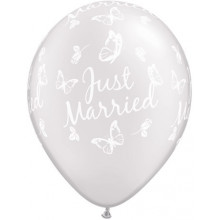 Just Married Butterflies-A-Round