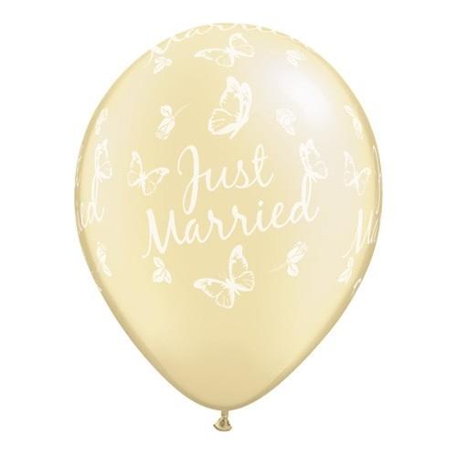 Just Married Butterflies--A-Round