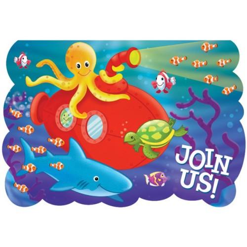 Deep sea fun tablecover