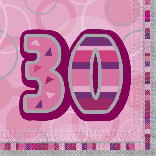 Glitz party -pink napkins