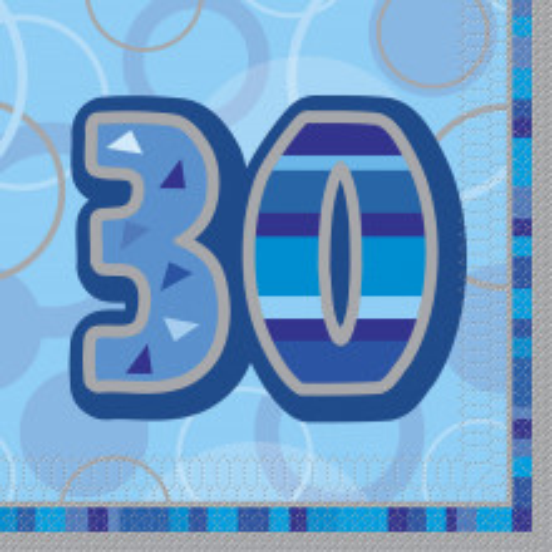 Glitz party -40  blue napkins