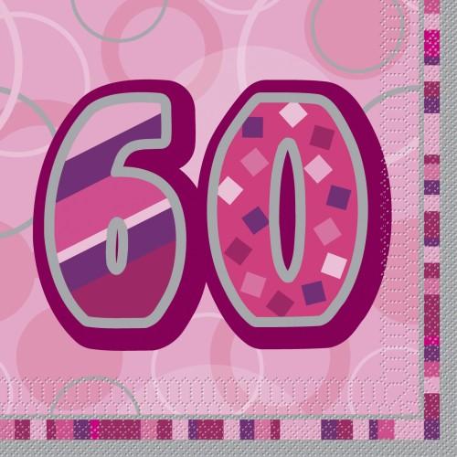 Glitz party -50  pink napkins