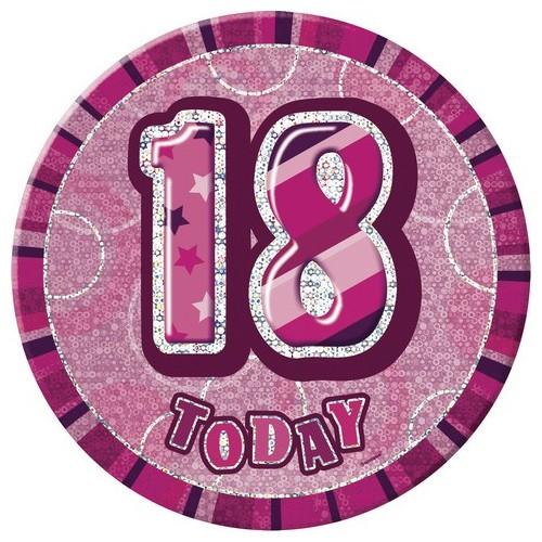 Glitz party -pink badge 16