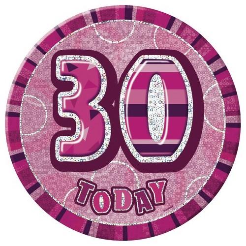 Glitz party -pink badge 18