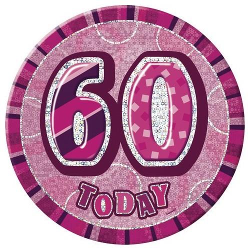 Glitz party -pink badge 50