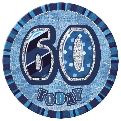 Glitz party -blue  badge 50