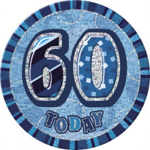 Bleščeča zabavno-modra broša 50