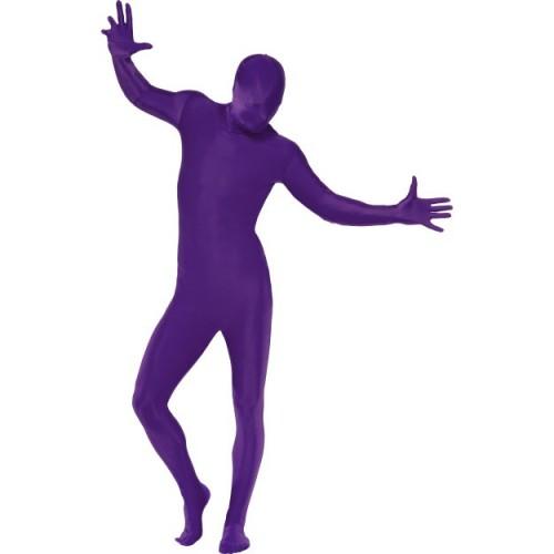 Druga koža kostum - vijoličen