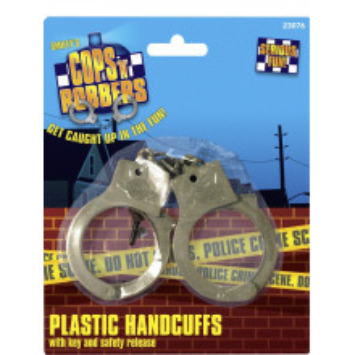 Police handcuffs plastics