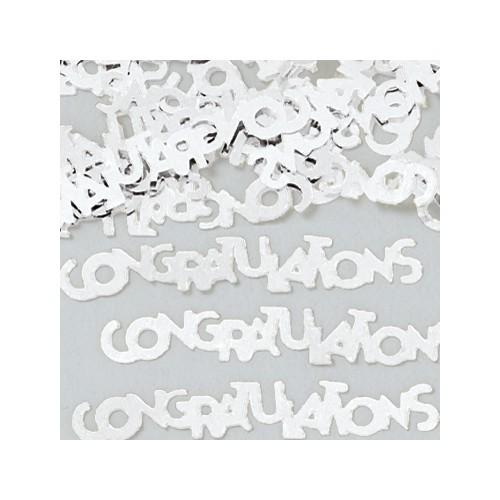 Konfetki - Congratulations silver
