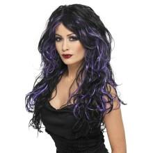 Gotska nevesta vijolična lasulja