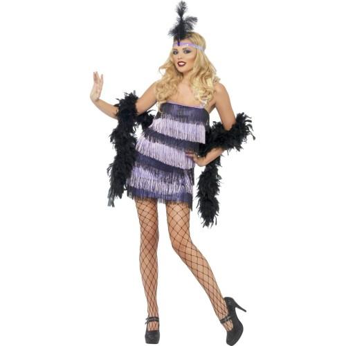 Flapper vijoličen kostum